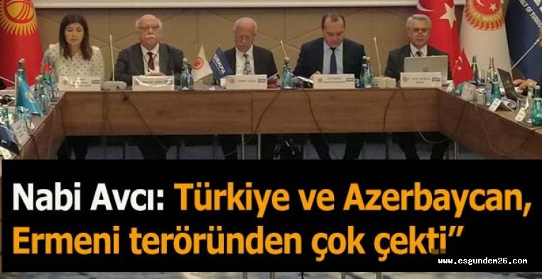 Nabi Avcı: Türkiye ve Azerbaycan, Ermeni Teröründen çok çekti