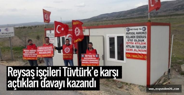 Reysaş işçileri Tüvtürk'e karşı açtıkları davayı kazandı