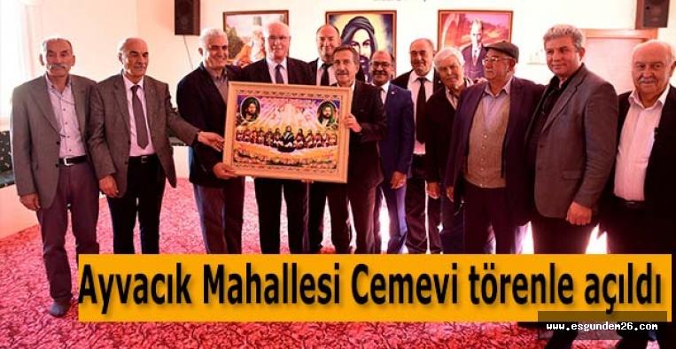 Ayvacık Mahallesi Cemevi törenle açıldı