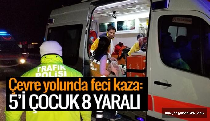 Eskişehir'de kamyonetle tır çarpıştı: 8 yaralı