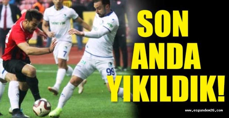 Eskişehirspor:1 Erzurumspor:2