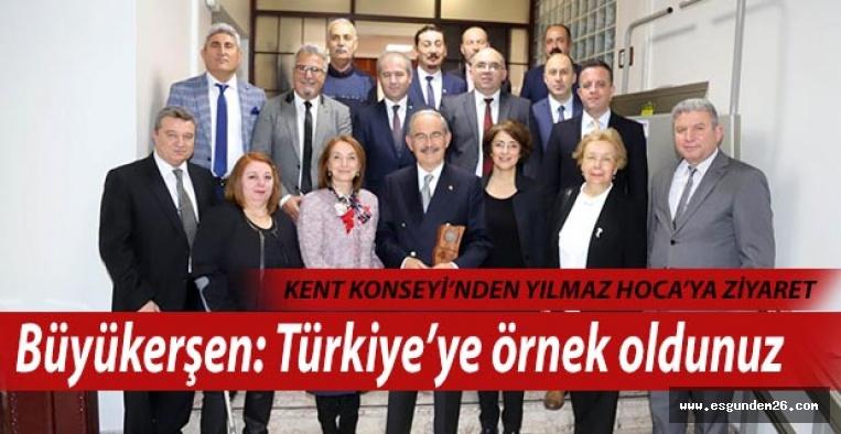 KENT KONSEYİ'NDEN BÜYÜKERŞEN'E ZİYARET