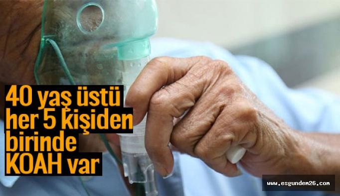 Türkiye'de 40 yaş üstü her 5 kişiden birinde KOAH var