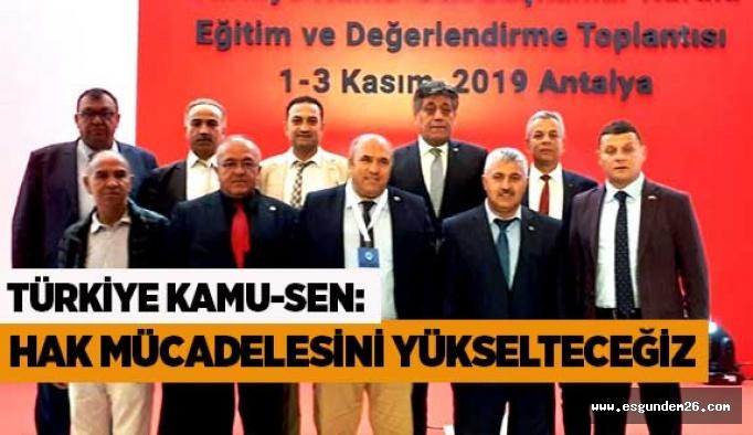 """""""Türkiye Kamu-Sen Başkanlar Kurulu Sonuç Bildirgesi"""""""
