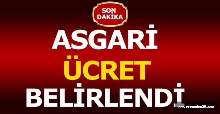 ASGARİ ÜCRET BELİRLENDİ