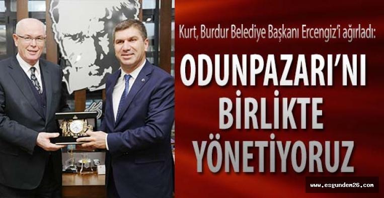 Burdur Belediye Başkanı Ali Orkun Ercengiz Kazım Kurt'u ziyaret etti