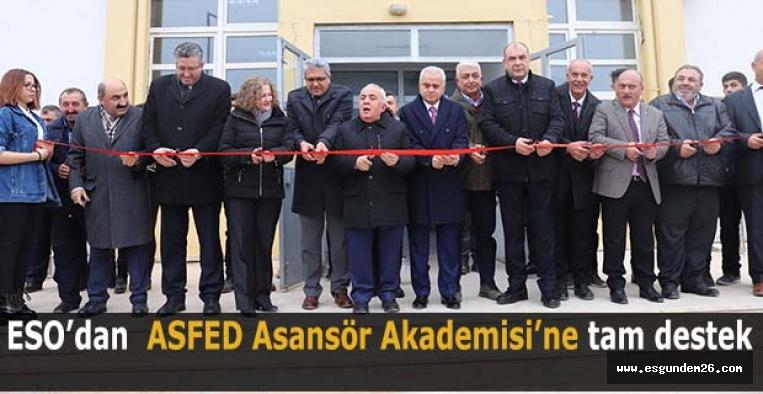 ESO'dan ASFED Asansör Akademisi'ne tam destek