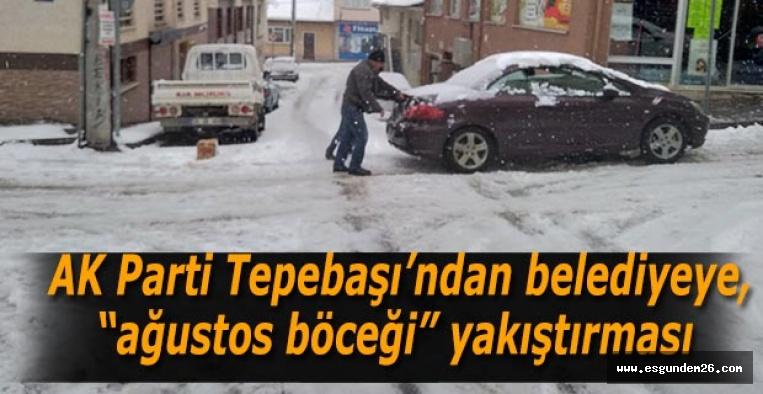 """AK Parti Tepebaşı'ndan belediyeye, """"ağustos böceği"""" yakıştırması"""