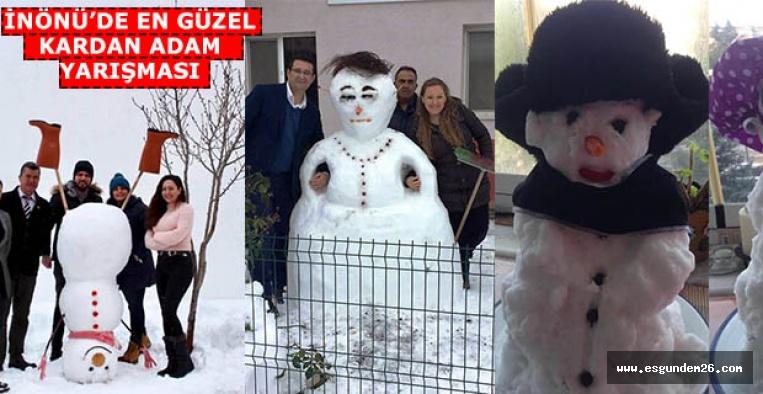 En güzel kardan adamı halkoylamasıyla belirlediler