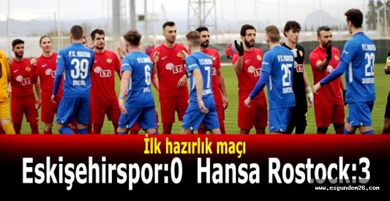 Eskişehirspor:0  Hansa Rostock:3