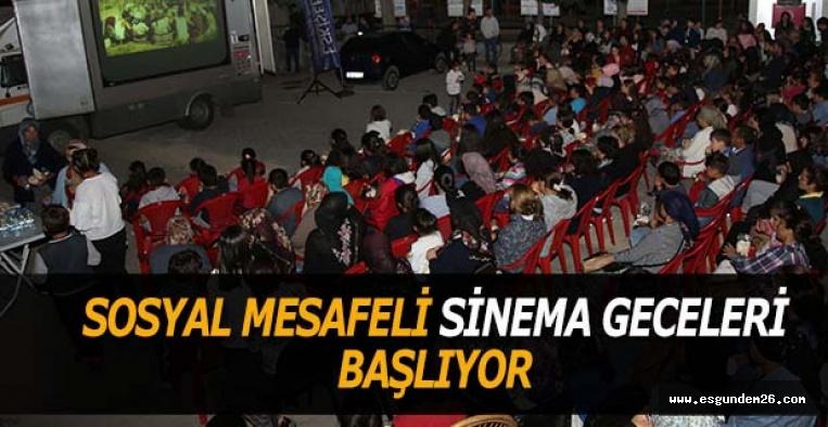 SOSYAL MESAFELİ SİNEMA GECELERİ BAŞLIYOR