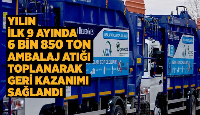 Tepebaşı'nda 6 bin 850 ton atığın geri dönüşümü sağlandı