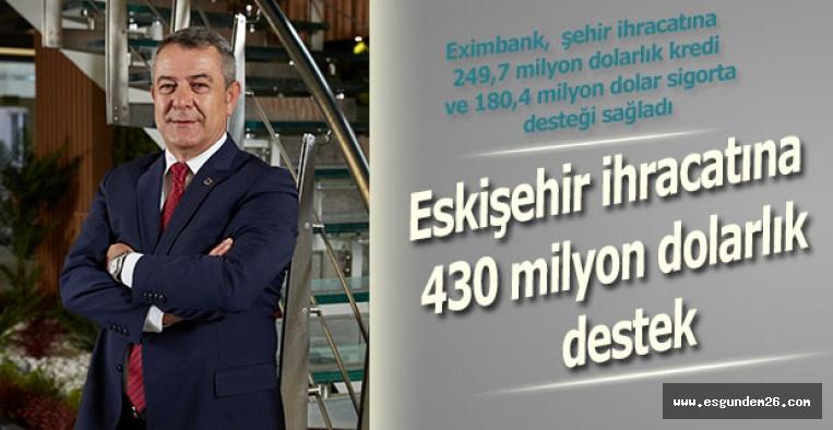 Eskişehir ihracatına 430 milyon dolarlık destek