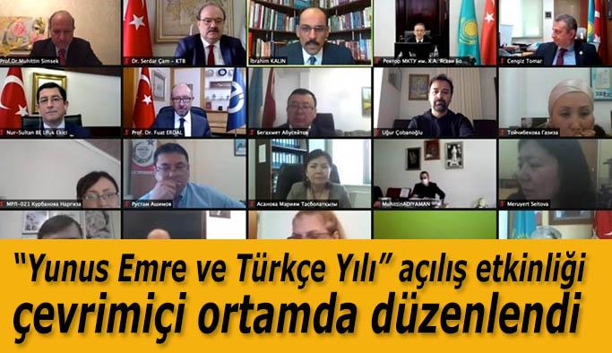"""""""Ahmet Yesevi'den Yunus Emre'ye"""" başlıklı panel çevrimiçi ortamda gerçekleştirildi."""