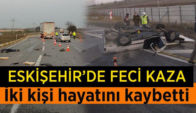 Aşırı hız sonucu feci kaza: 2 ölü, 1 yaralı