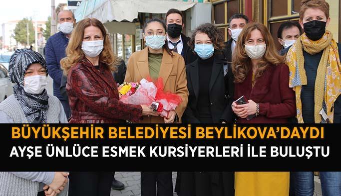 BÜYÜKŞEHİR BELEDİYESİ'NDEN  BEYLİKOVA'YA ZİYARET