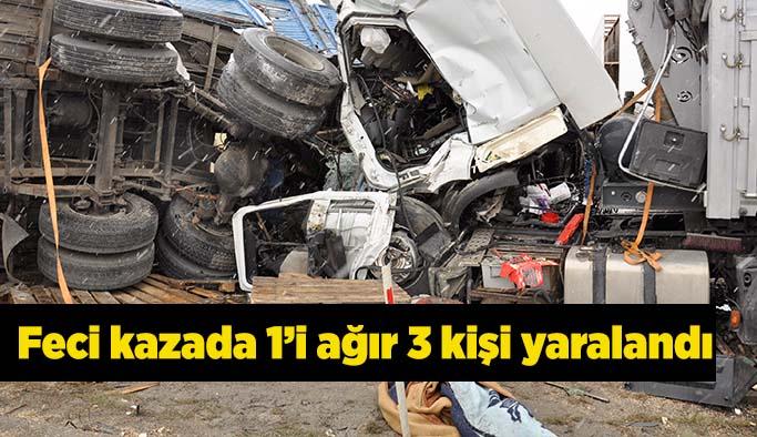 Eskişehir'de iki kamyon çarpıştı
