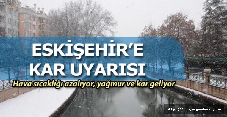 Eskişehir'e kar geri geliyor