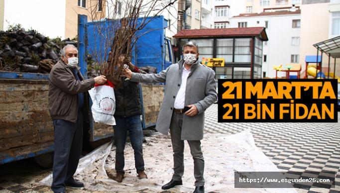 Eskişehir Orman Bölge Müdürlüğü'nden ücretsiz fidan dağıtımı
