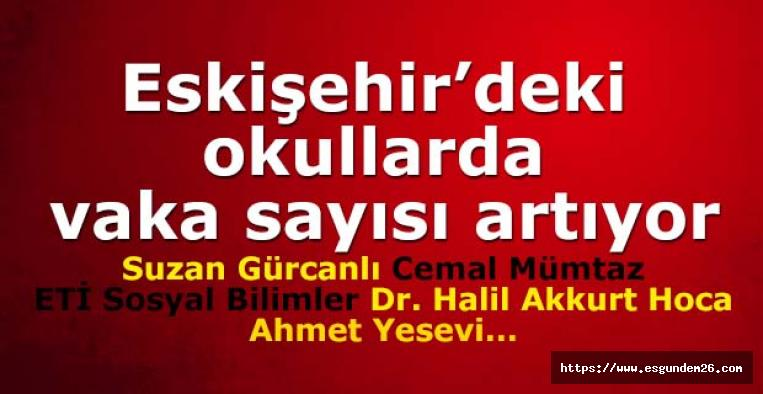 Eskişehir'deki okullarda vaka sayısı artıyor