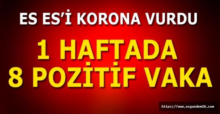 Eskişehirspor'da 1 haftada 8 pozitif vaka
