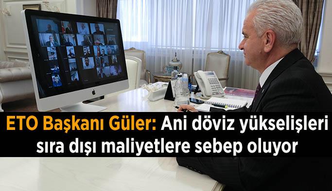 Güler'den ekonomi vurgusu