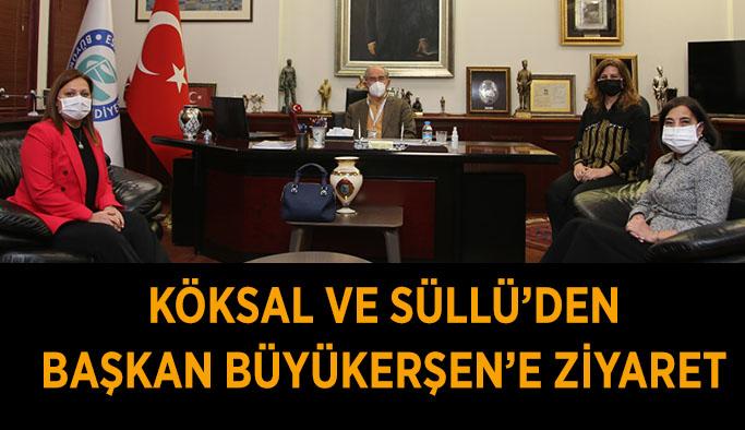 Köksal ve Süllü'den Başkan Büyükerşen'e ziyaret