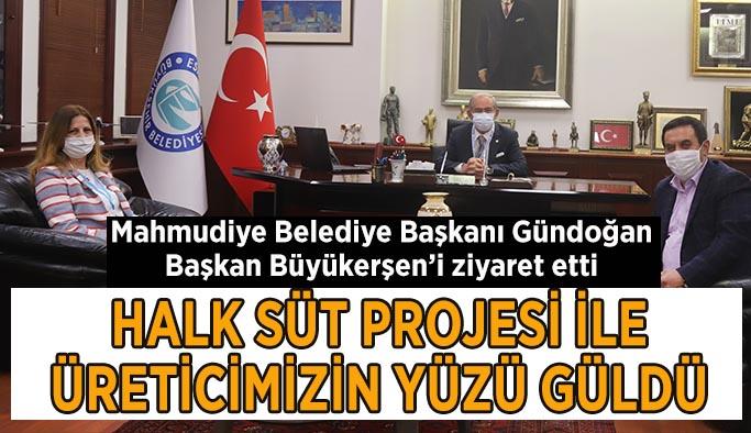Mahmudiye Belediye Başkanı Gündoğan, Başkan Büyükerşen'i ziyaret etti