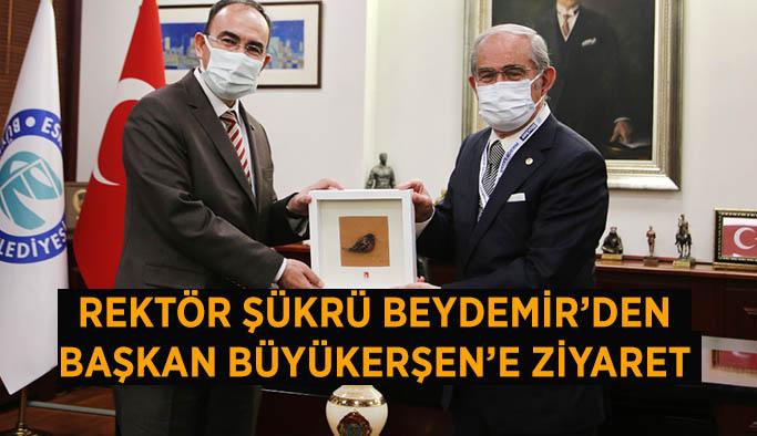 Rektör Beydemir'den  Başkan Büyükerşen'e ziyaret