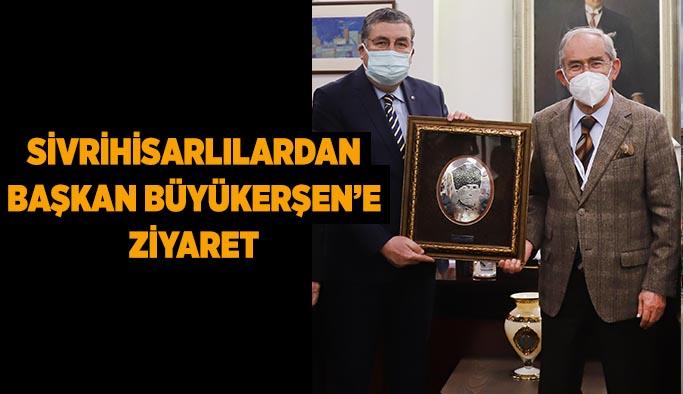 Sivrihisarlılardan  Başkan Büyükerşen'e  ziyaret