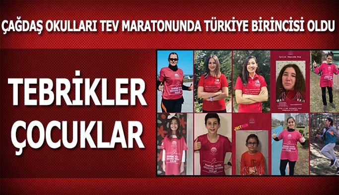 Çağdaş Okulları TEV Maratonu'nda Türkiye birincisi oldu