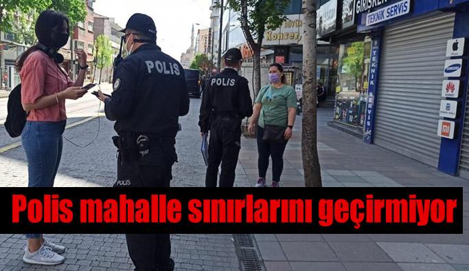 Polis ekipleri şehir merkezinde denetimlerini arttırdı