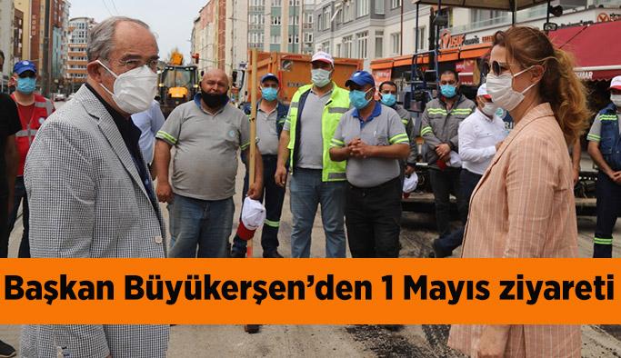 Başkan Büyükerşen'den 1 Mayıs ziyareti