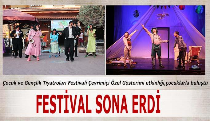 Şehir Tiyatrolarının Uluslararası Çocuk ve Gençlik Tiyatroları  Çevrimiçi Festivali sona erdi