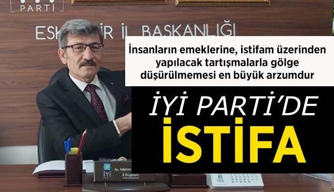 İYİ Parti İl Başkanı Ektaş görevinden istifa etti
