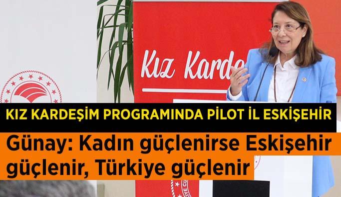 Prof. dr. Günay: Kız kardeşim programında pilot il Eskişehir