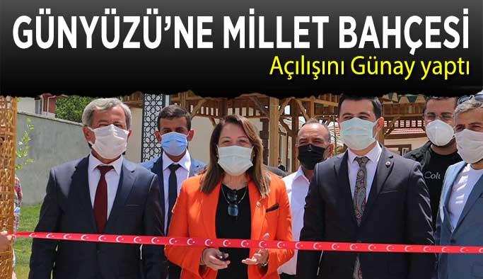 AK Partili Günay Günyüzü Millet Bahçesi'ni açtı