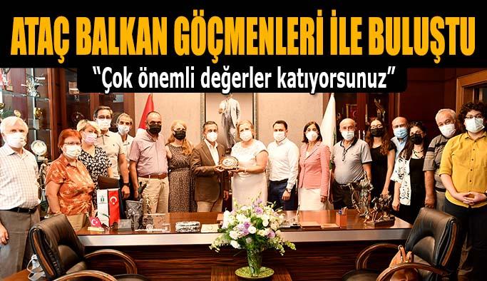 Başkan Ataç Balkan Göçmenleri ile buluştu