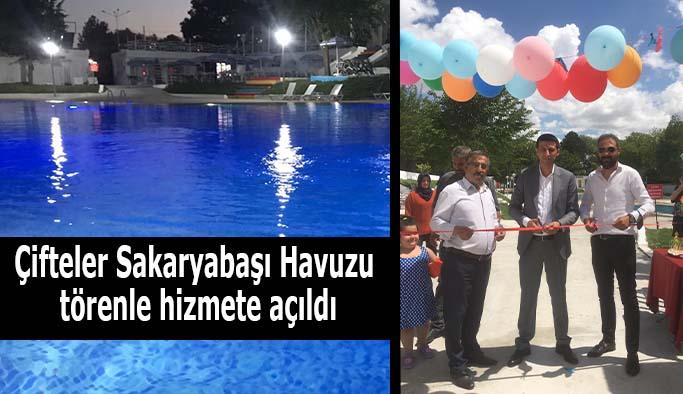 Çifteler Sakaryabaşı Havuzu törenle hizmete açıldı