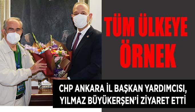 CHP Ankara İl Başkan Yardımcısı Karalus, Yılmaz Büyükerşen'i ziyaret etti