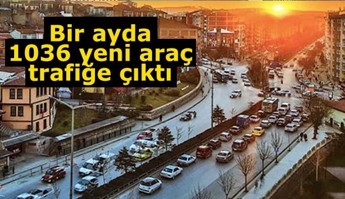Eskişehir'de bir ayda bin 36 yeni araç trafiğe çıktı