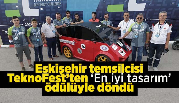Eskişehir temsilcisi elektrikli otomobil TeknoFest'ten 'En iyi tasarım' ödülüyle döndü