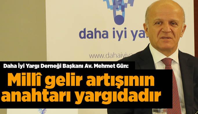 """Av. Mehmet Gün: """"Millî gelir artışının anahtarı yargıdadır"""""""