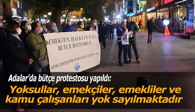Eskişehir'de bütçe protestosu