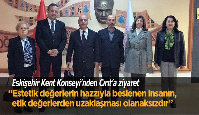 Eskişehir Kent Konseyi'nden Cırıt'a ziyaret