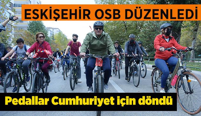 Eskişehir OSB Cumhuriyet Bisiklet Turu Etkinliği düzenledi