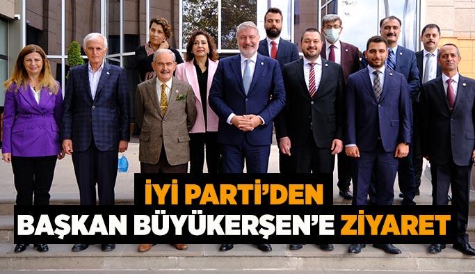 İYİ Parti'den Eskişehir Büyükşehir Belediye Başkanı Yılmaz Büyükerşen'e ziyaret