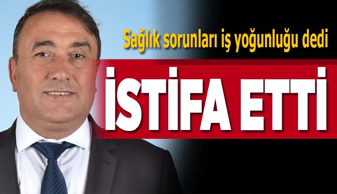 Memleket Partisi İl başkanı Ahmet Çetin İstifa etti