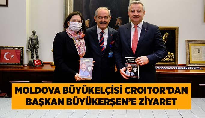 Moldova Büyükelçisi Croıtor'dan Başkan Büyükerşen'e ziyaret