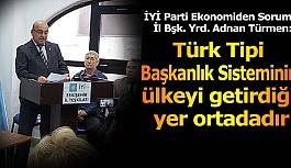 İYİ Partili Türmen: Türk tipi başkanlık sisteminin ülkeyi getirdiği yer ortadadır